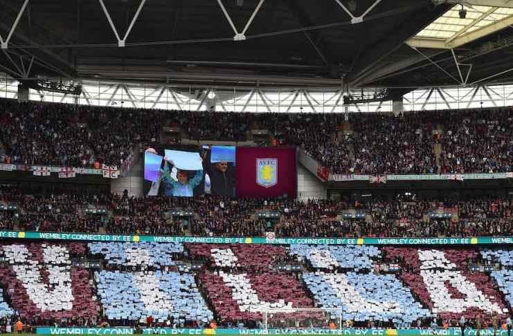 Aston Villa wembley mosaic FA Cup semi-final