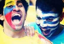 colombia uruguay fans