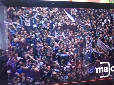 Aston Villa fans European Cup crowd