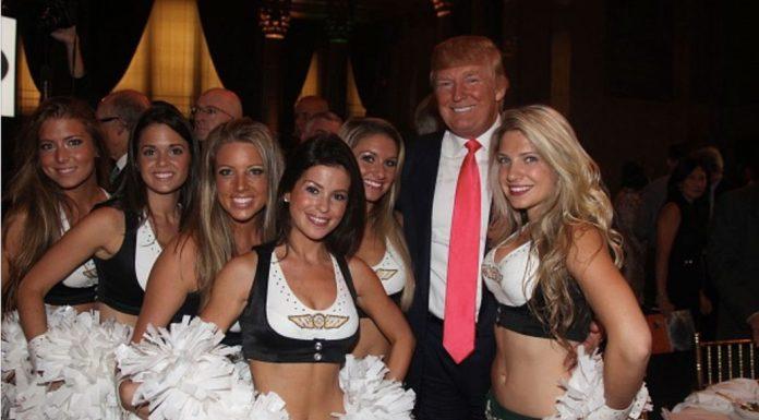 donald trump cheerleaders