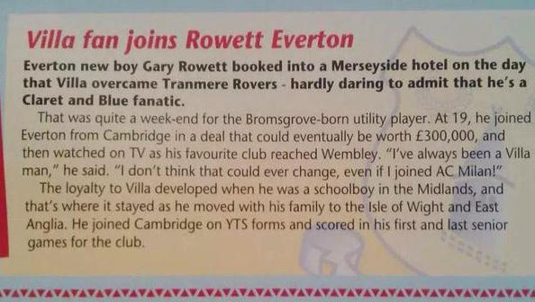 gary rowlett aston villa fan