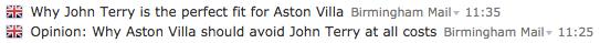 john terry Birmingham Mail