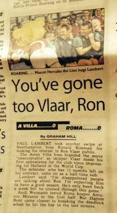 The Sun Aston Villa