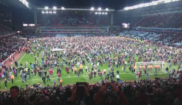 Villa Park Pitch Invasion FA Cup WBA