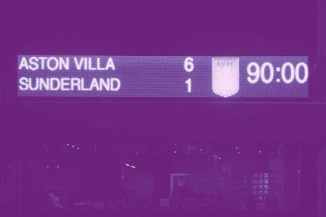 Villa Park Sunderland Scoreboard