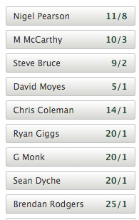 latest aston villa manager odds