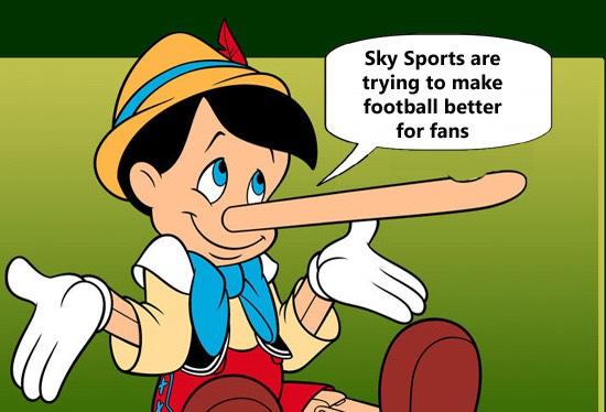 Sky Sports pinocchio lies