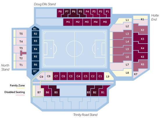 villa park seating plan