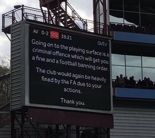 villa park scoreboard banning order warning