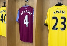 aston villa shirt numbers