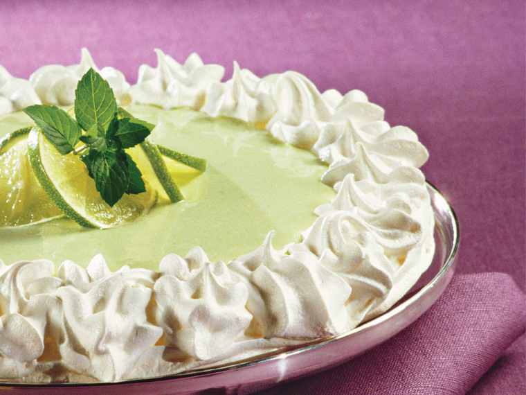 Key Lime Angel Pie via MyOtherMoreExcitingSelf.com #NationalEggMonth #IncredibleEgg #baking #desserts