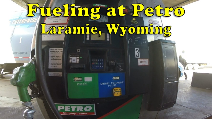 Fueling at Petro Laramie, Wyoming
