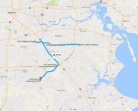 Houston Delivery Route