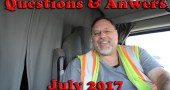 Over The Road Trucking Questions and Answers – July 2017 [Video]