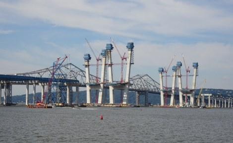 New Tappan Zee Bridge Under Construction