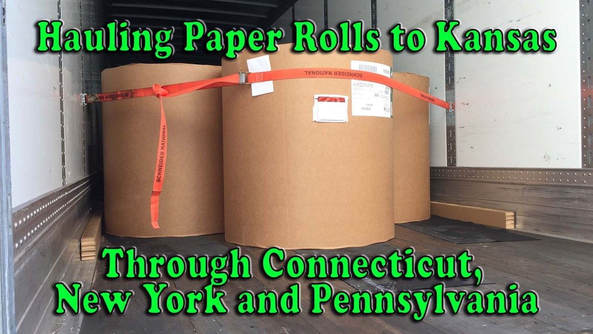 Hauling Paper Rolls to Kansas Through Connecticut, New York and Pennsylvania [Video]