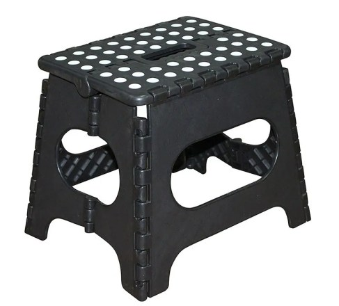 Jeronic-11-Inch-Plastic-Folding-Step-Stool-Black