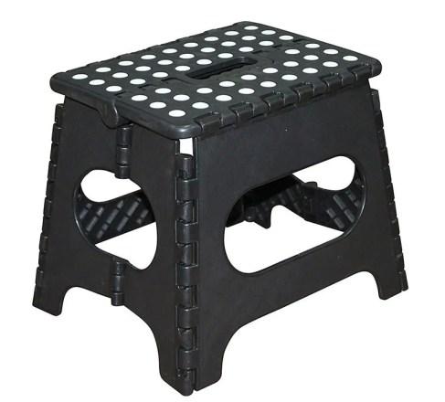 Jeronic-11-Inch-Plastic-Folding-Step-Stool-Black