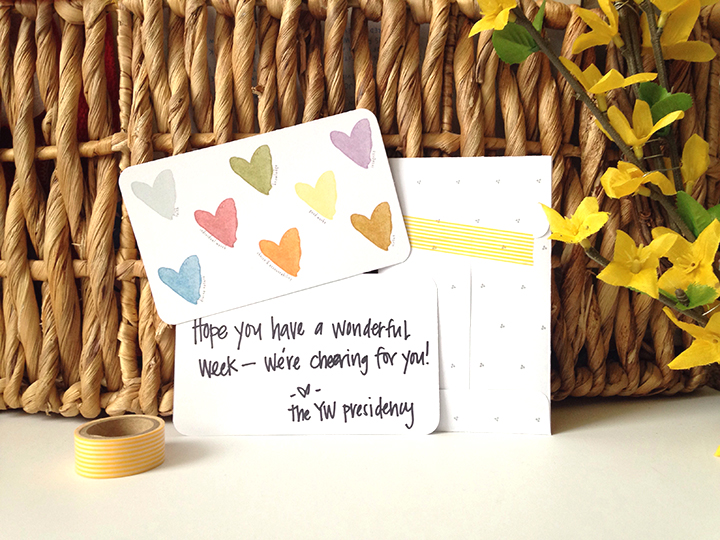Young Women Value Heart Notecards | LDS Young Women Freebies | My Own Brand Of Happy