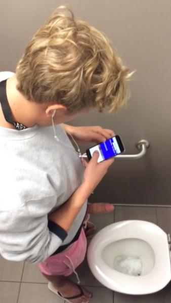 straight teammate- caught- wanking-in-restroom big-dick