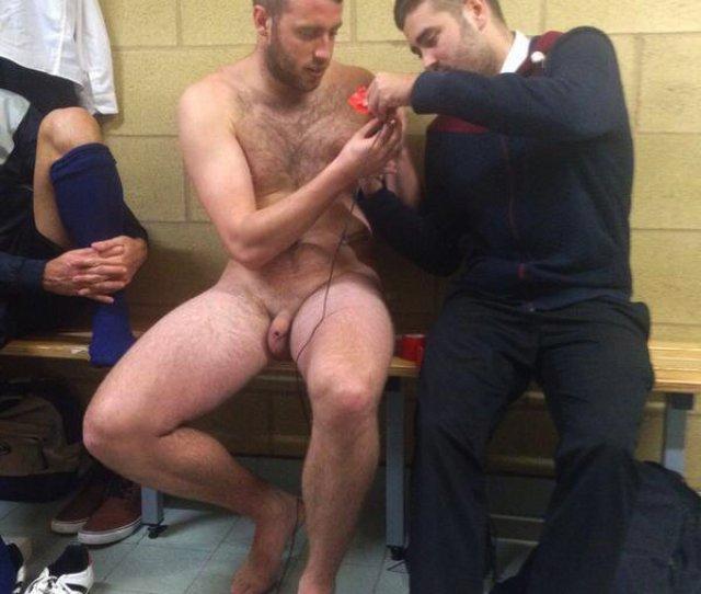 Naked Athlete Lockerroom