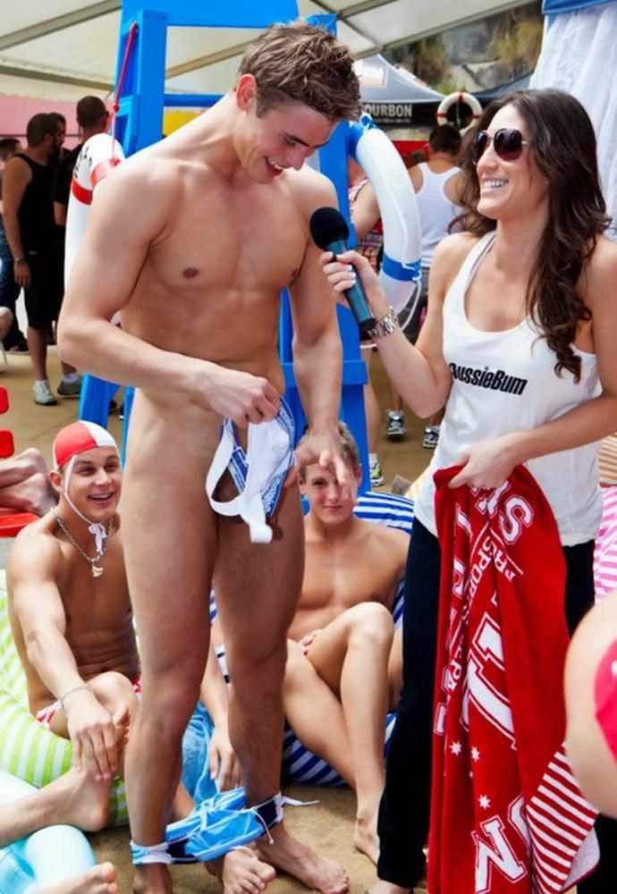 Swimmer naked wearing jocktrap (6)