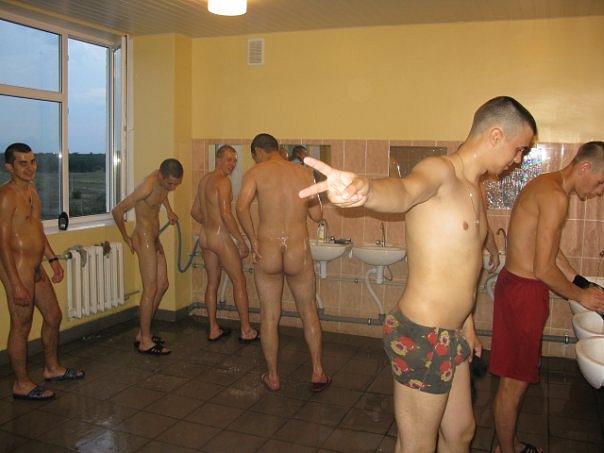 Russian cadets naked in locker room