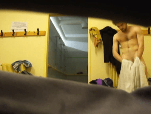 Hot guy spied after showers (8)
