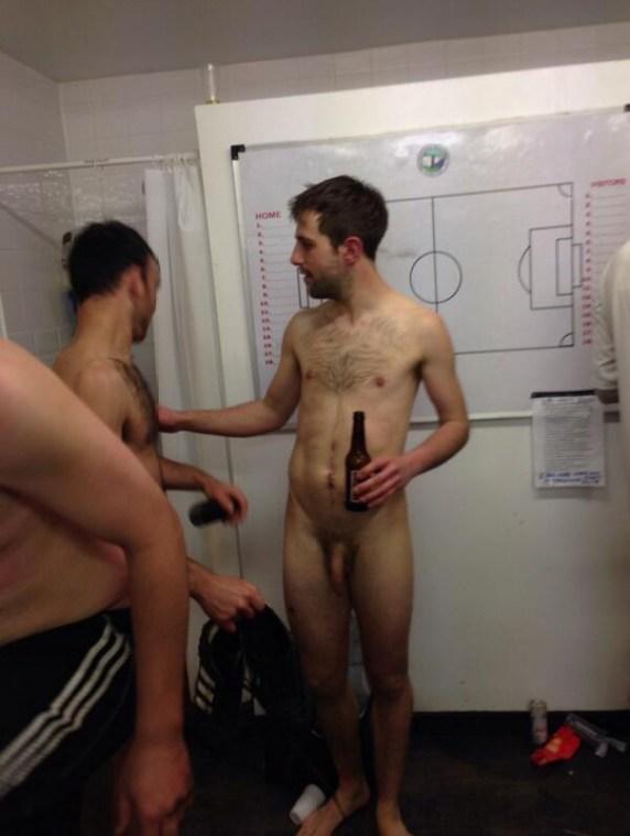 Naked-soccer player-dick-locker room