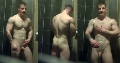 college wrestler naked in the showers