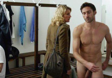 German actor Benjamin Sadler showing big dick in locker room