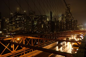 Brooklyn Bridge night