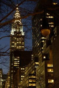 Chrysler Building by night
