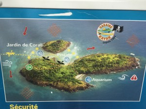 map l'îlet pigeon guadeloupe