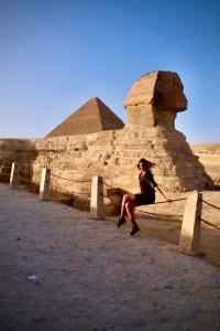 Sphinx aux pyramides de Gizeh
