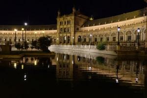 Place d'Espagne by night à Séville