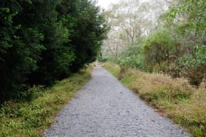 chemin bétonné trou de fer