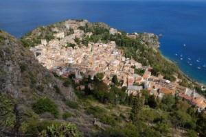 vue incroyable sur la ville de Taormina