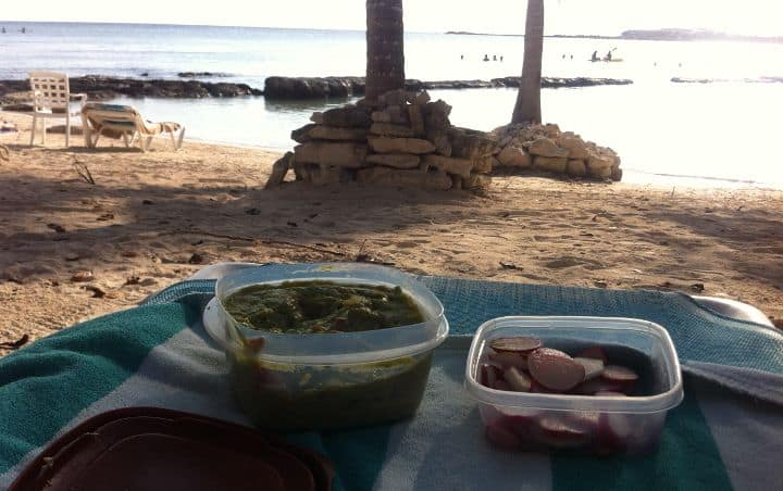 paleo chips at the beach, one of the great fast paleo snack recipes