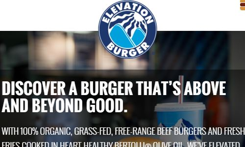Elevation Burger Website pictures - Elevation Burger is a great place for some of the best paleo fast food burger options you will find. This restaurant offers 100% grass fed beef burgers, and lists all ingredients in their fresh toppings. In addition, they are considered to be one of the most knowledgeable and tolerant of the burger places offering lettuce wraps instead of buns (some places you will find employees that don't know what you are talking about, but not at Elevation Burger typically). Given their commitment to organic beef and grass fed proteins, elevation burger is on of the best options for paleo eating out fast food