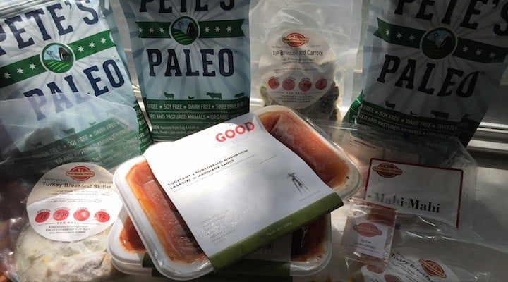 Photo of meals from several nationwide Paleo meal delivery services covered in this article. In this article we compare the Paleo home delivery services that deliver to addresses nationwide, highlighting different features of each company's offerings. These chef delivery services offer options like Whole30 meal delivery, AIP food delivery, Wahls Paleo meal delivery and Sugar Detox food delivery and specialize in Organic, grain free, gluten free, refined sugar free, soy free, dairy free (except Ghee and butter), local, sustainable, grass fed, pastured and seasonal farm to table ingredients. If you are looking to order Paleo meals online, we hope this provides you a comprehensive resource on your available options.