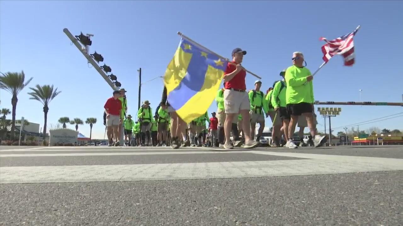 Frat Boys Walk 128.3 Miles to Spring Break to Honor Veterans