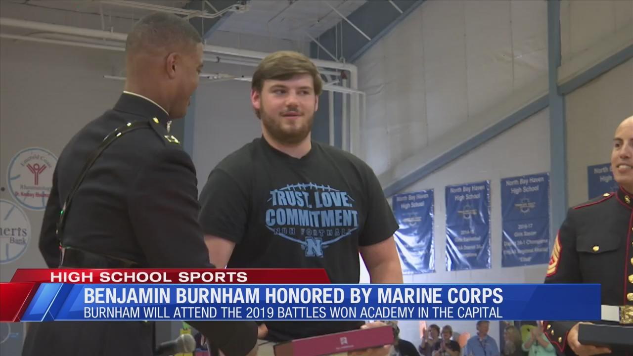 Benjamin Burnham honored by United States Marine Corps