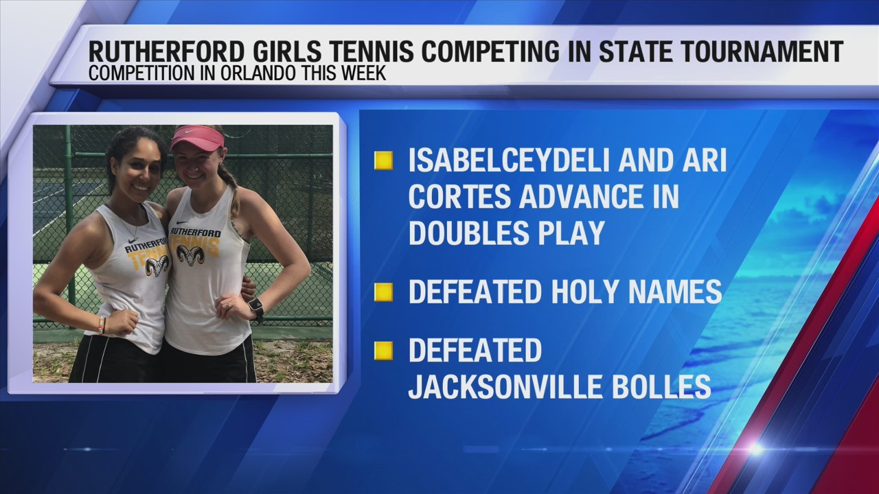 Rutherford girls tennis team competing in state tournament this week