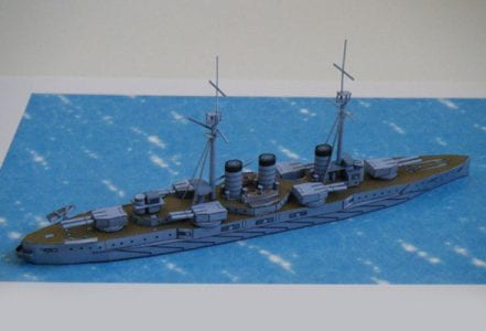 Japanese battleship Kawachi Papercraft