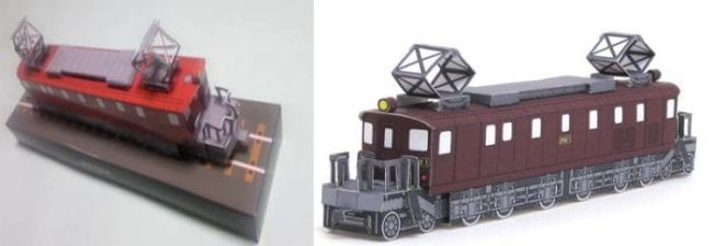 Jr Ef52 1 Locomotive Train Paper Craft My Paper Craft
