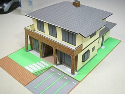 Simple House Model Diorama