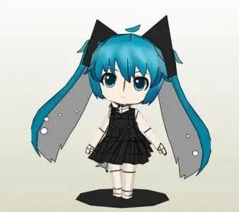 Chibi Hatsune Miku Deep Sea Girl Paper Craft My Paper Craft