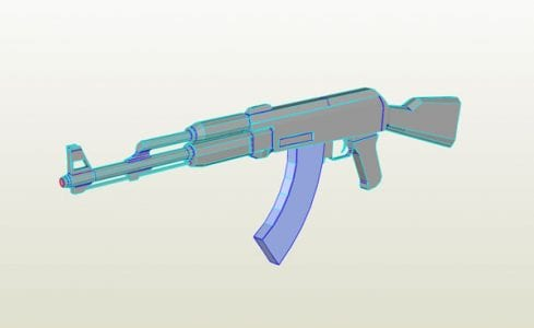 Ak47 Weapon Paper Craft My Paper Craft