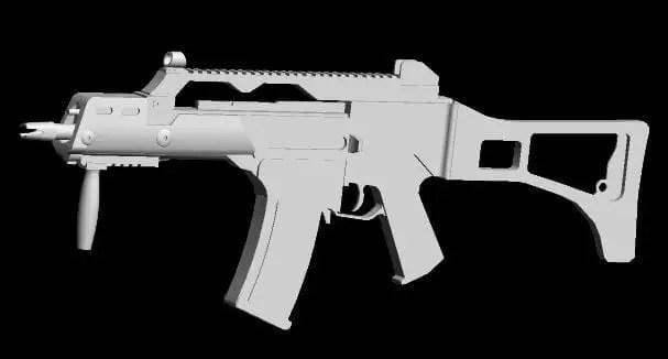 Hk G36 Rifle Weapon Papercraft